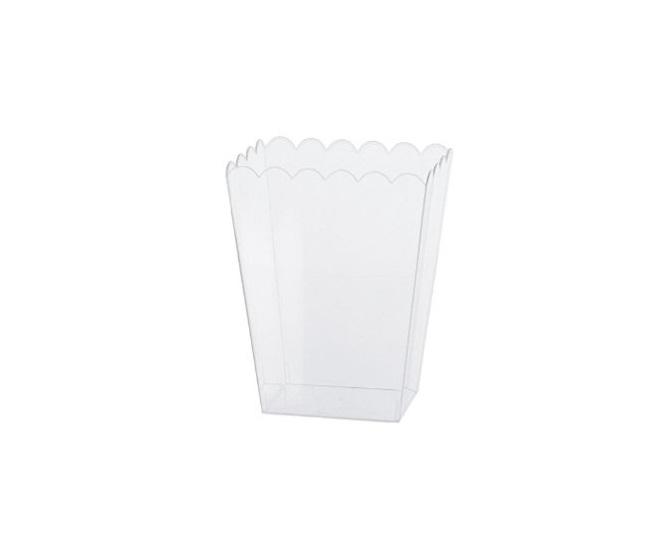 Taça pipocas transparente