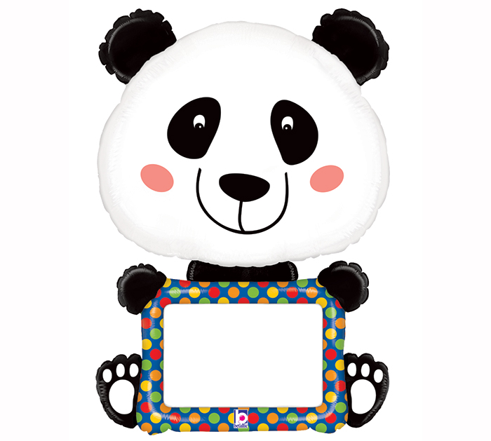 Balão supershape panda personalizavel 122cm
