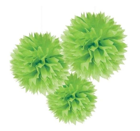 3 Pompons verde Lima