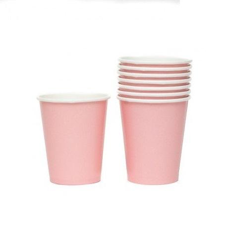 14 copos rosa bebé