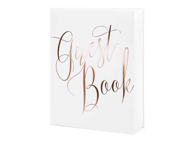 Livro de honra letras rose gold
