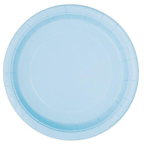 16 pratos azul bebé 23cm