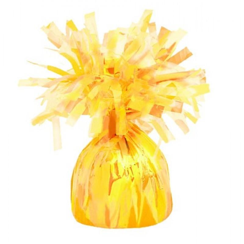 Peso para balões amarelo