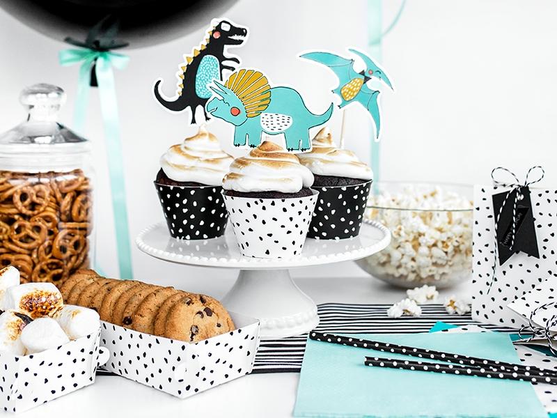 Cupcake wrapper - Dinosaur party x6