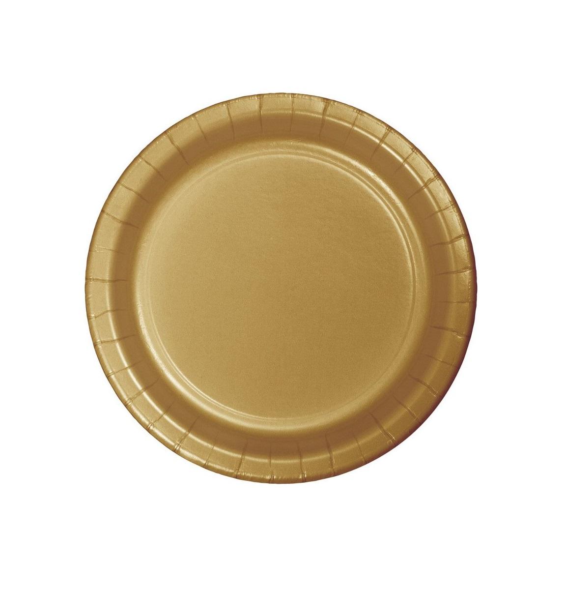 20 pratos ouro 18cm