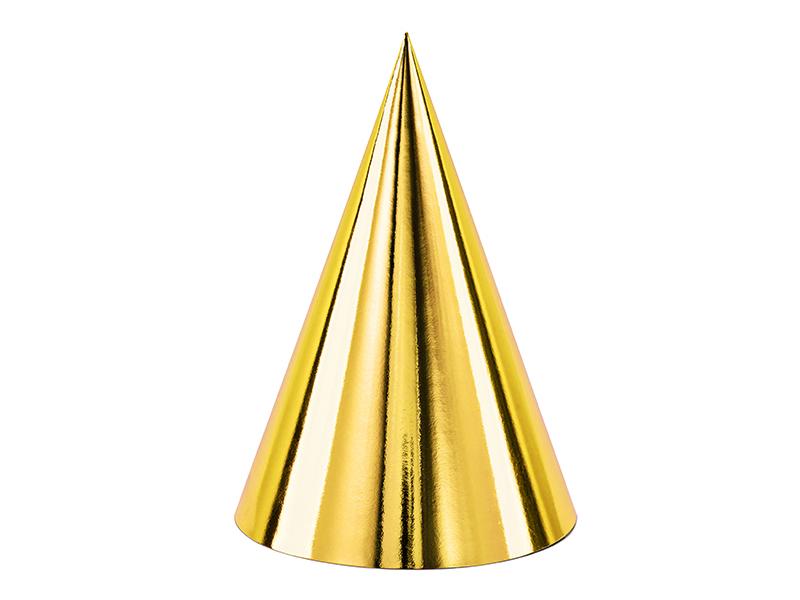 6 chapéus de festa ouro