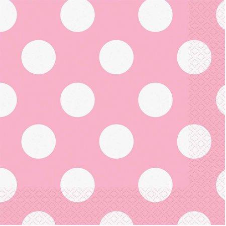 16 Guardanapos  rosa bolas