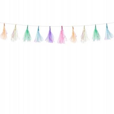 Mini tassel pastel iridiscente