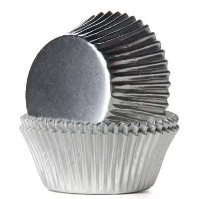 Forma Mini Cupcake Prata 75und