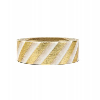 Washi tape ouro riscas