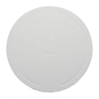 Disco redondo branco elegante 32cm