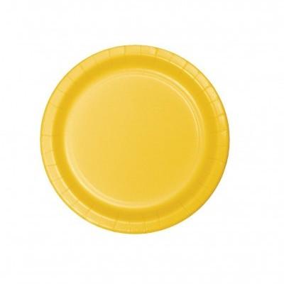 20 pratos amarelo 18cm