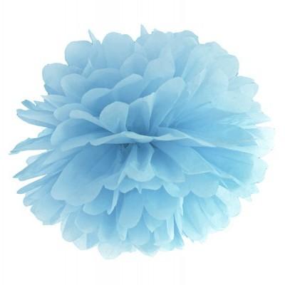 Pompom 40cm Azul
