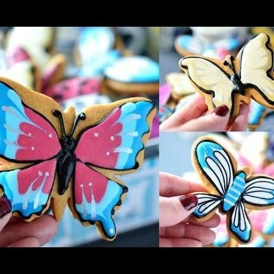 Cortador de bolachas borboleta