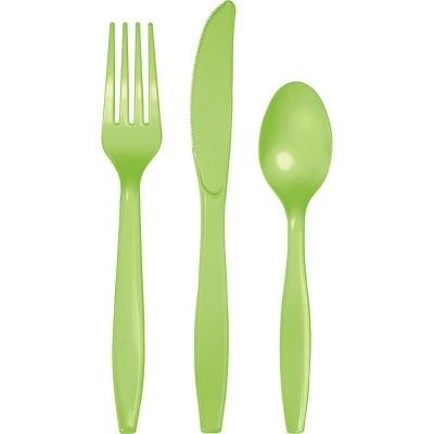 Set de 24 talheres verde lima