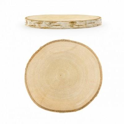 Conj. 2 Rodelas de madeira 10/12cm