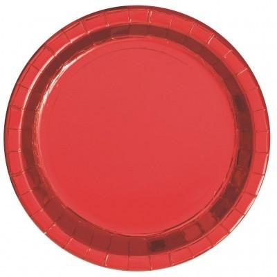 Pratos vermelho foil