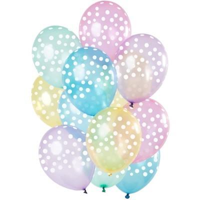 12 balões cristal arco iris bolas