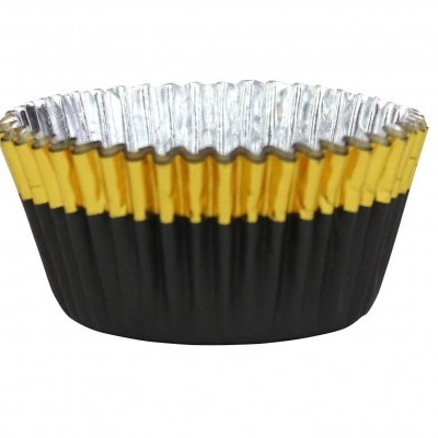 Forma Cupcake Preto/Ouro
