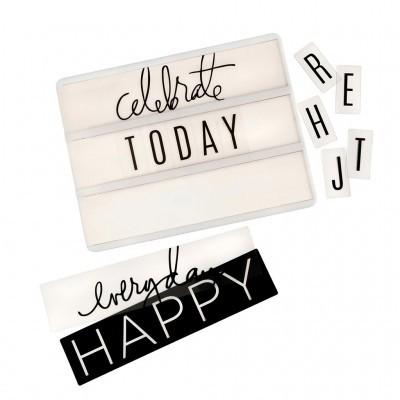 Diapositivos Party Branco e Preto para Light Box by Heidi Swapp