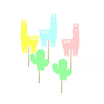 12 Cupcake toppers llamas
