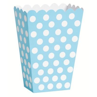 Caixas de pipocas azul bebé bolas