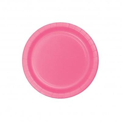 20 pratos rosa 18cm