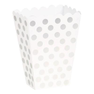Caixas de pipocas prata bolas