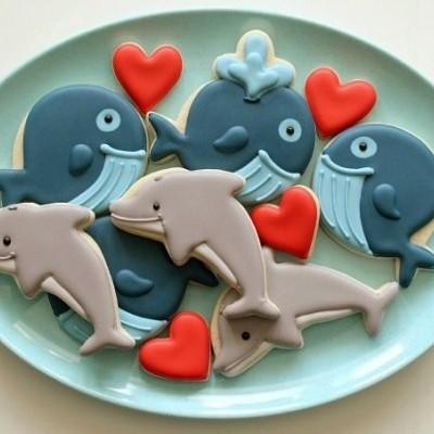 Cortador de bolachas golfinho