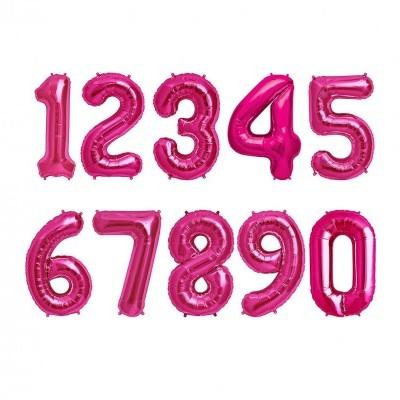 """Números 34"""" rosa"""
