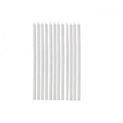 12 Velas brancas altas