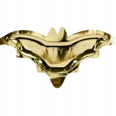 6 Pratos morcego dourado foil