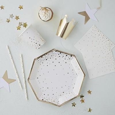 Pratos estrelas ouro