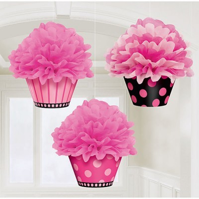 Pompons cupcake