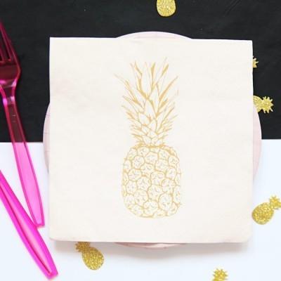 20 Guardanapos ananás