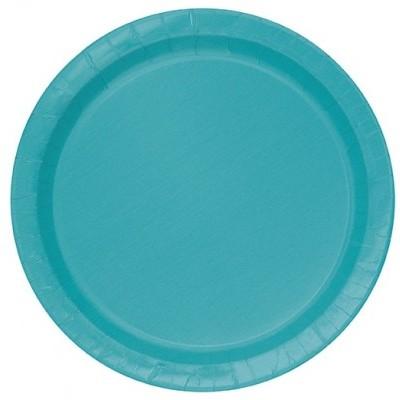 20 pratos turquesa 18cm