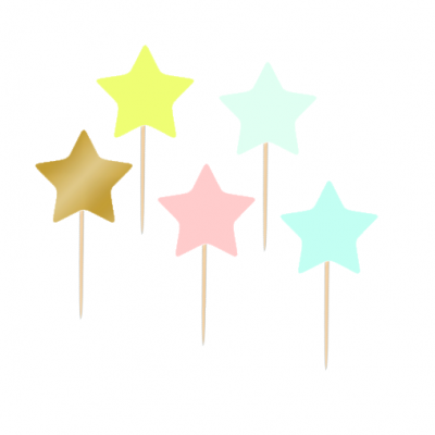 12 Cupcake toppers Estrelas