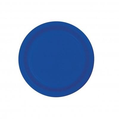 20 Pratos azul cobalto 18cm