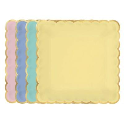 8 pratos 4 cores