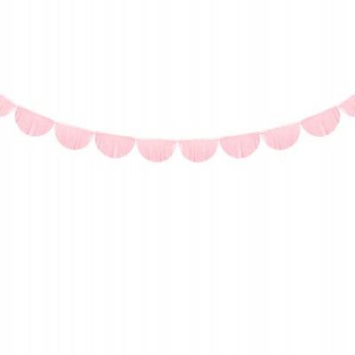 Grinalda franjas de papel rosa