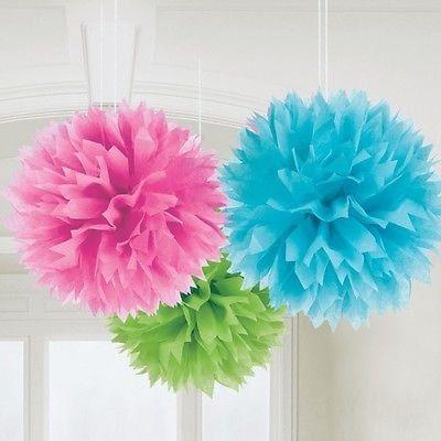 3 Pompons coloridos