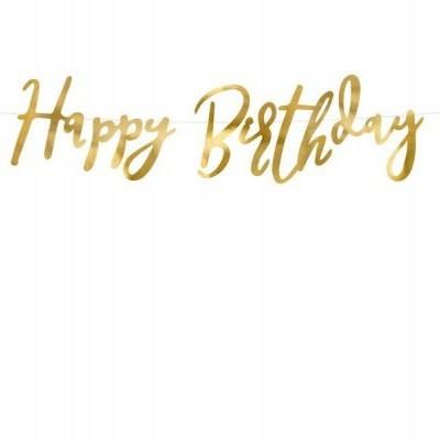 Grinalda happy Birthday Ouro