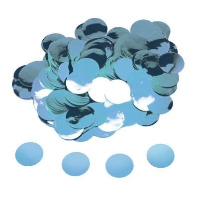 confetti circulo azul