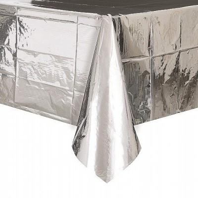 Toalha de mesa foil prateada