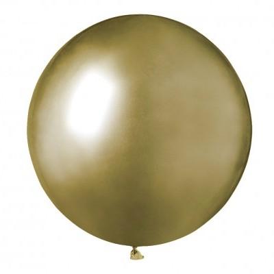 Balão latex 48 cm Chrome Dourado