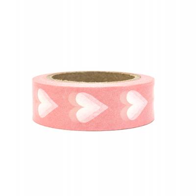 Washi tape rosa corações