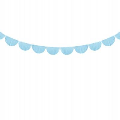 Grinalda franjas de papel azul
