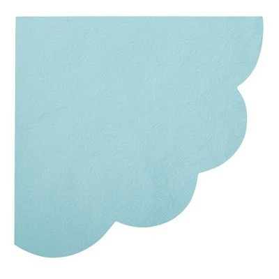 guardanapo leque azul