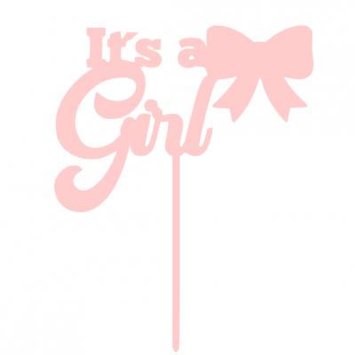Topo de bolo It´s a girl