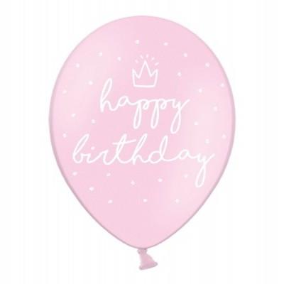 Balão latex happy birthday rosa
